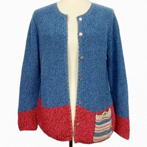Northern Isles Cottage Open Front Cardigan Size L